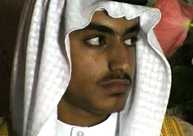 In this image from video released by the CIA, Hamza bin Laden is seen as an adult at his wedding. The never-before-seen video of Osama bin Laden's son and potential successor was released Nov. 1, 2017, by the CIA in a trove of material recovered during the May 2011 raid that killed the al-Qaida leader at his compound in Pakistan