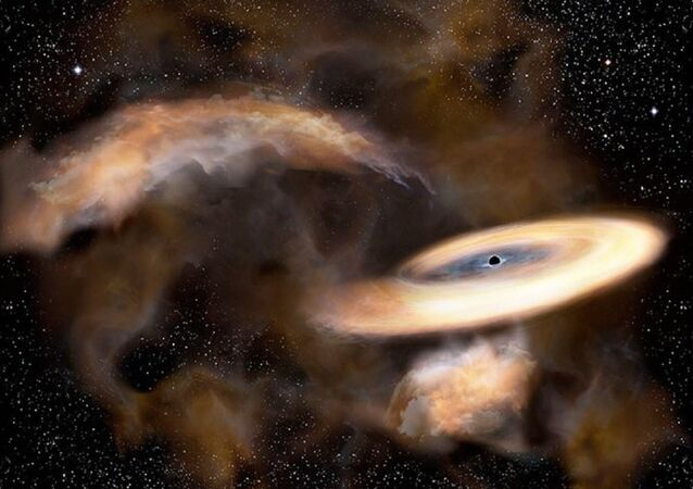 An artist's impression of a newly discovered black hole near the core of the Milky Way