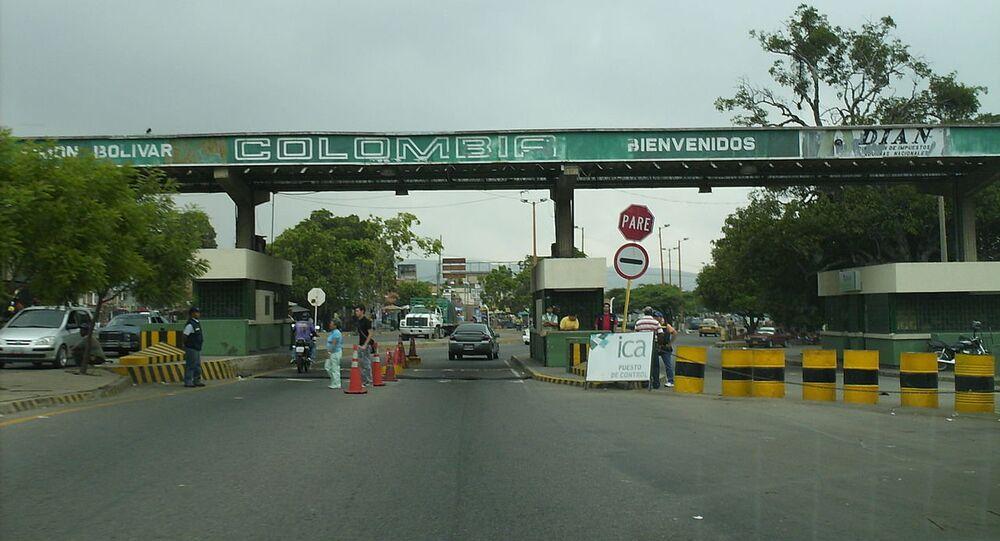 The border between Colombia and Venezuela