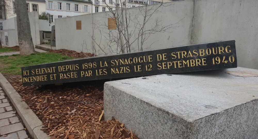 Synagogue memorial vandalised in Strasbourg