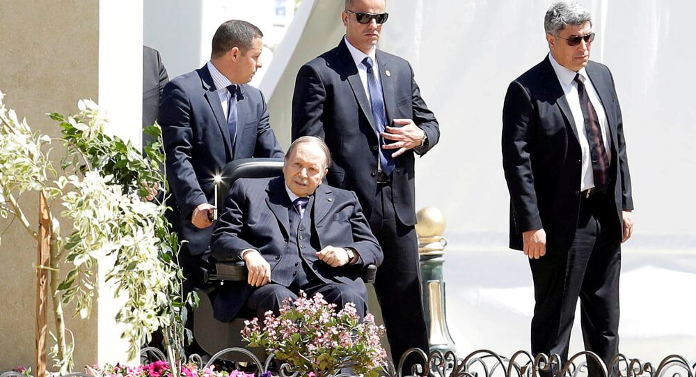Algerian President Abdelaziz Bouteflika is seen in Algiers