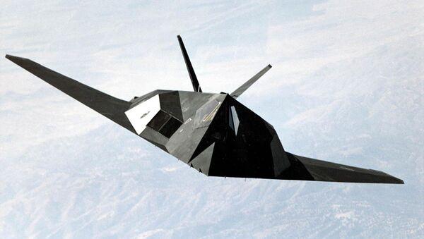 F-117 Nighthawk stealth fighter during a mission flight - Sputnik International