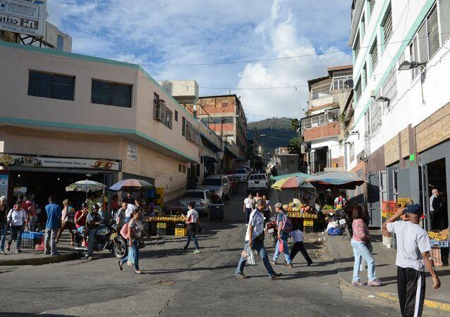 Street in a popular Caracas neighbourhood