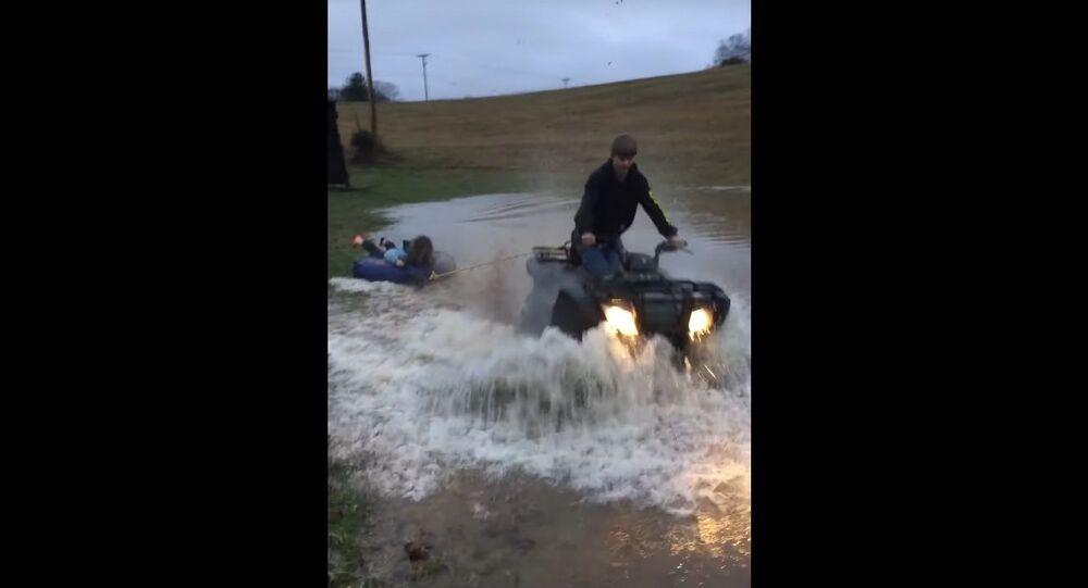 Having Fun in a Flooded Field