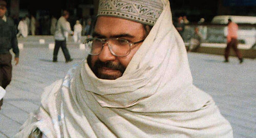 This Jan.22, 2000 File photo shows Maulana Masood Azhar, founder of a major Islamic militant group, Jaish-e-Mohammad whose militants are fighting against Indian troops in Indian-held Kashmir, was arrested by Pakistan's authorites on Monday in Punjab province