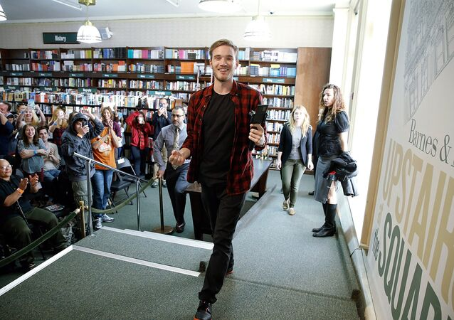 PewDiePie signs copies of his new book This Book Loves You at Barnes & Noble Union Square on October 29, 2015 in New York City