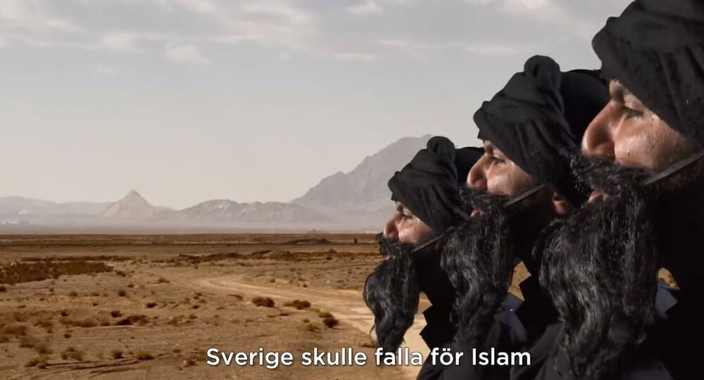 Screenshot from SVT Humor's satirical video