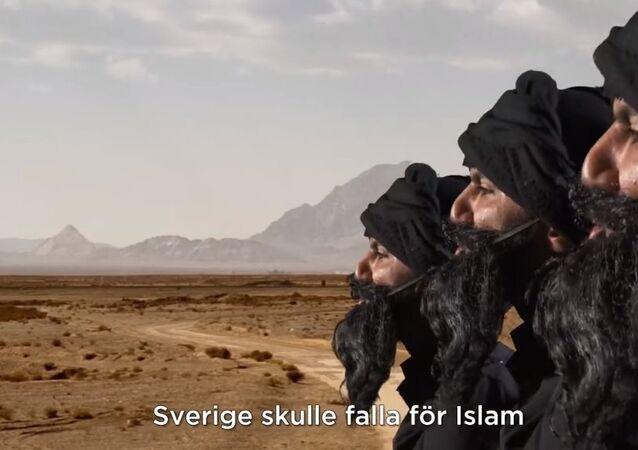 Screenshot from SVT Humor's satirical video