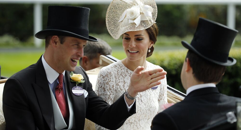Britain's Prince William and Kate, Duchess of Cambridge arrive by carriage on the second day of the Royal Ascot horse race meeting at Ascot, England, Wednesday June 15, 2016.