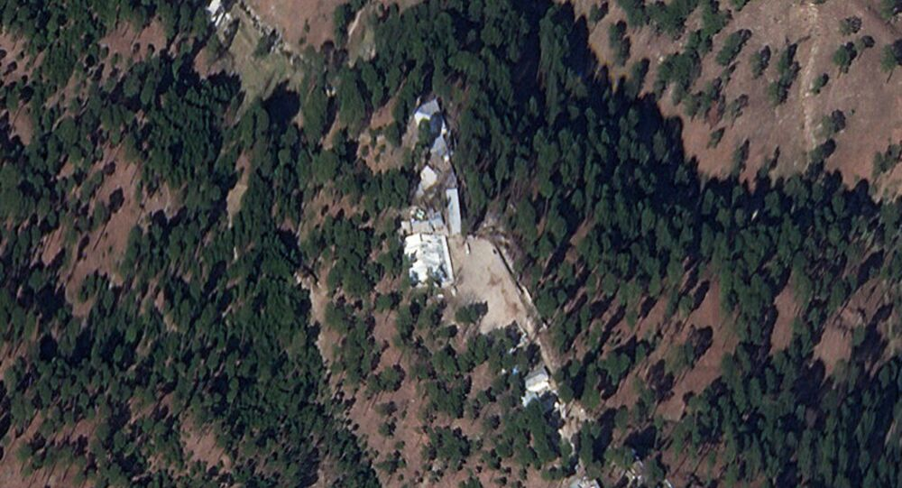 A cropped version of a satellite image shows a close-up of a madrasa near Balakot, Khyber Pakhtunkhwa province, Pakistan, March 4, 2019. Picture taken March 4, 2019