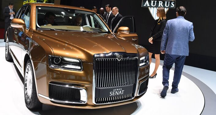 Aurus at the Geneva Motor Show.