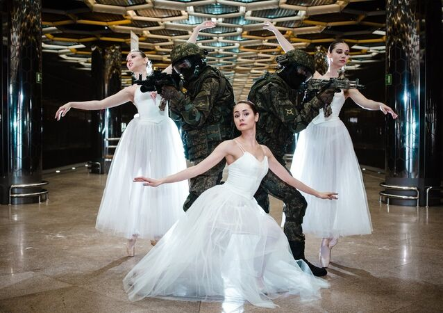 Troops and Ballerinas photoshoot in Ekaterinburg.