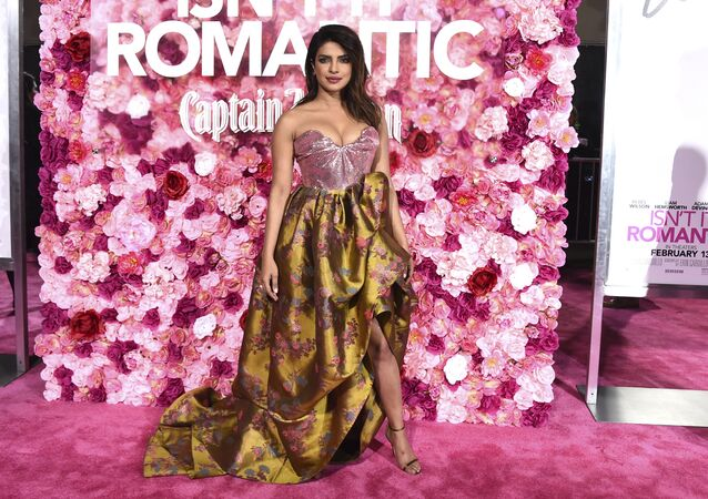 Cast member Priyanka Chopra arrives at the Los Angeles premiere of Isn't It Romantic at The Theatre at Ace Hotel on Monday, Feb. 11, 2019