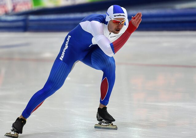 Russian speed skater Pavel Kulizhnikov