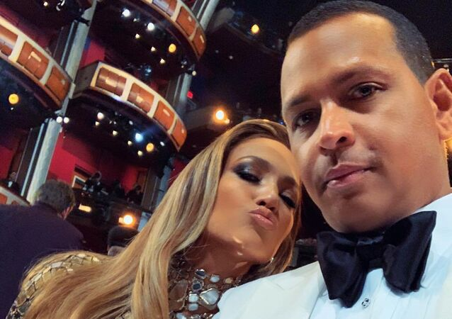 Jennifer Lopez and Alex Rodriguez during the 2019 Oscars Ceremony