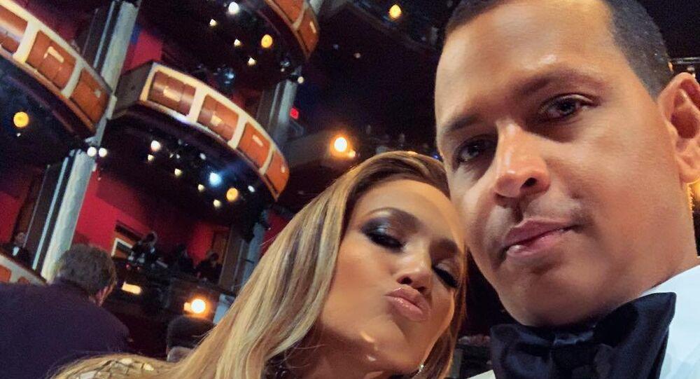 Jennifer Lopez and Alex Rodriguez during 2019 Oscars Ceremony