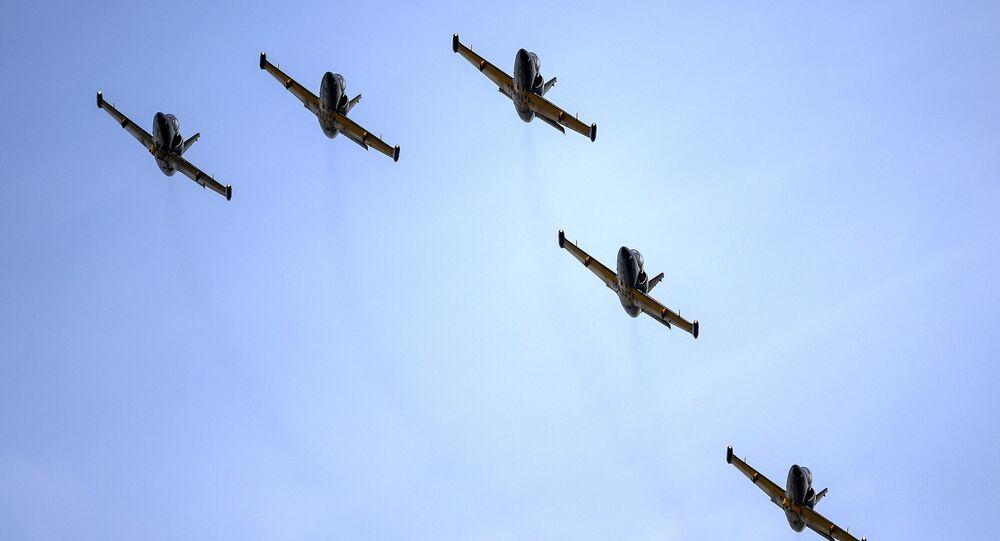 Aerobatic team Rus on the Aero L-39 Albatross Aircraft
