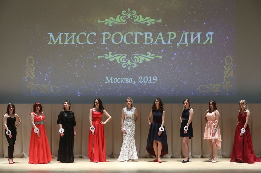 Charming Contestants in Russia's National Guard Moscow-2019 Beauty Pageant