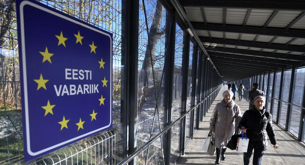 Russian-Estonian border entry point Narva-2