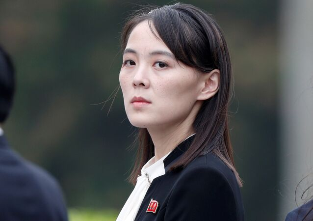 Kim Yo Jong, sister of North Korea's leader Kim Jong Un attends wreath laying ceremony at Ho Chi Minh Mausoleum in Hanoi, Vietnam March 2, 2019
