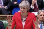 Britain's Prime Minister Theresa May speaks in Parliament in London, Britain, March 12, 2019, in this screen grab taken from video.