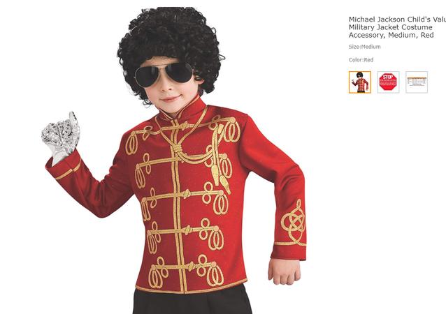Michael Jackson Child Costume