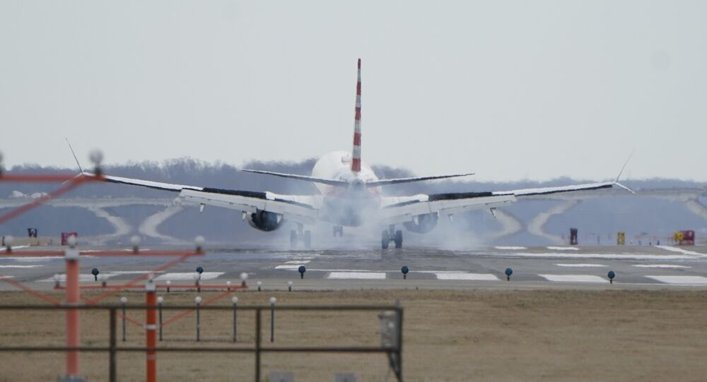 An American Airlines Boeing 737 MAX 8 flight from Los Angeles lands at Reagan National Airport shortly after an announcement was made by the FAA that the planes were being grounded by the United States over safety issues in Washington, U.S. March 13, 2019