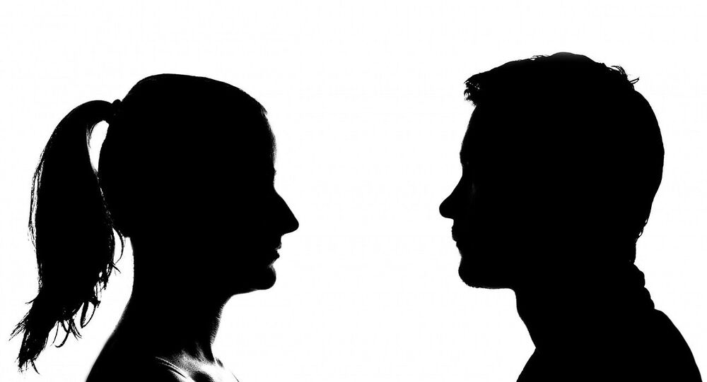 Female and male silhouettes