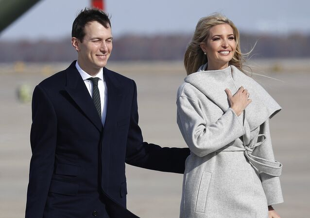 White House Senior Adviser Jared Kushner, left and Ivanka Trump, the daughter and assistant to President Donald Trump walk across the tarmac before boarding Air Force One, Thursday, Nov. 29, 2018 at Andrews Air Force Base, Md.