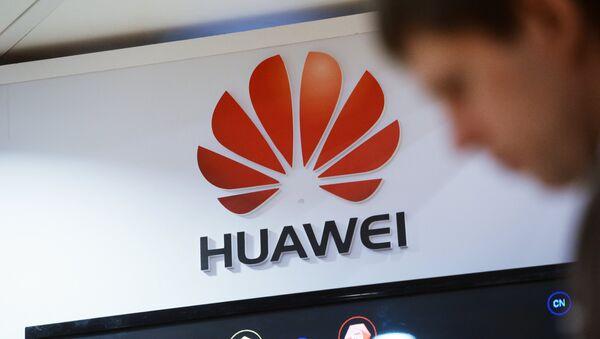 Huawei display at a telecommunications industry expo, file photo. - Sputnik International