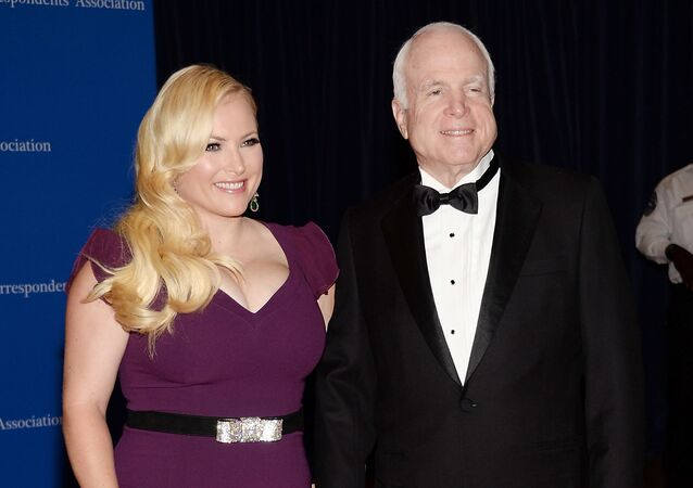 In this May 3, 2014 file photo, Meghan McCain, and Sen. John McCain attend the White House Correspondents' Association Dinner in Washington