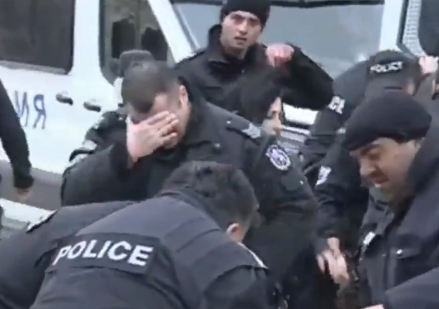 Bulgarian Police Mistakenly Pepper-Spray Themselves Instead of Protesters