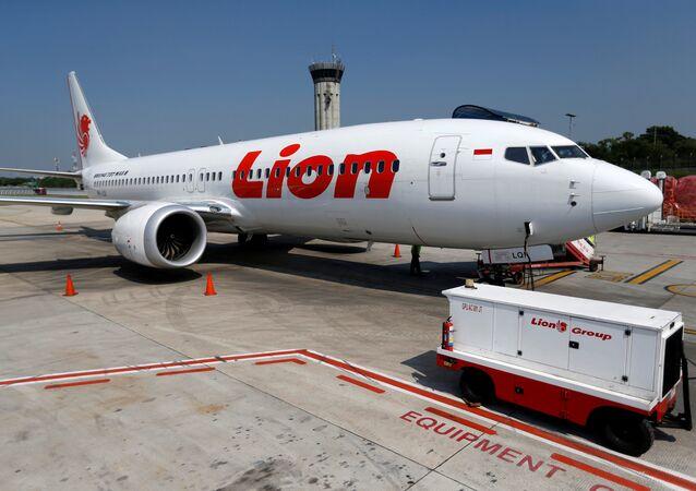 Lion Air's Boeing 737 Max 8 airplane