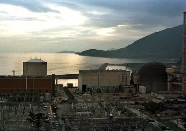 The Angra 2 nuclear reactor dome at right is seen in Angra dos Reis, Brazil, in this photo taken November 24, 1998. Delayed for more than a decade by cost overruns and safety concerns, the Angra 2 reactor at last will be finished. Critics say that the location of the plant, in a scenic bay west of Rio de Janeiro is an environmental hazard. They claim that the functioning Angra 1 reactor, the cilinder shaped building at left, was built on unstable crumbling stone, not on bedrock.
