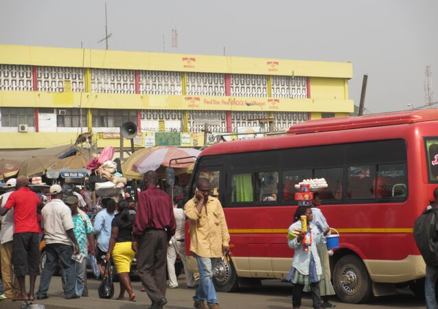 A bus stop in Ghana (File photo).