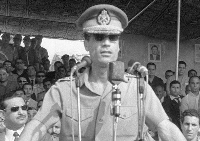 A young Muammar Gaddafi.