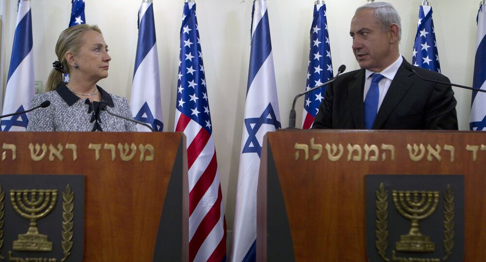 Israel's Prime Minister Benjamin Netanyahu and U.S. Secretary of State Hillary Rodham Clinton deliver joint statements in Jerusalem, Tuesday, Nov. 20, 2012.