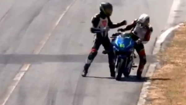 Professional motorcyclists each receive two-year suspension following mid-race brawl during Costa Rica event in February 2019 - Sputnik International