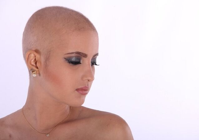 Bald head woman