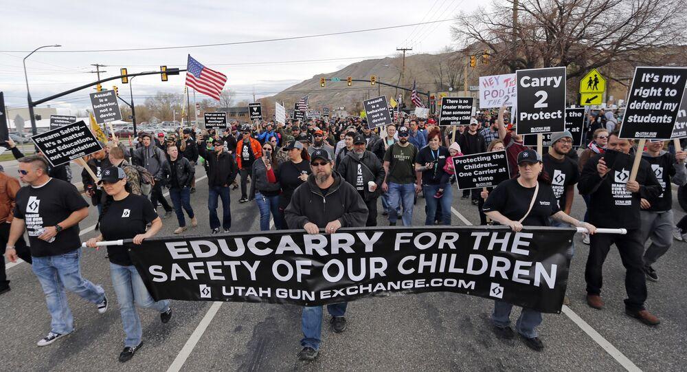 Pro-gun protesters in Utah
