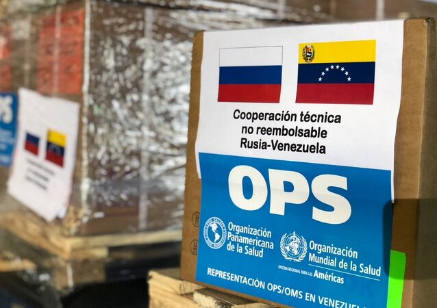 Russian humanitarian aid for Venezuela in Caracas