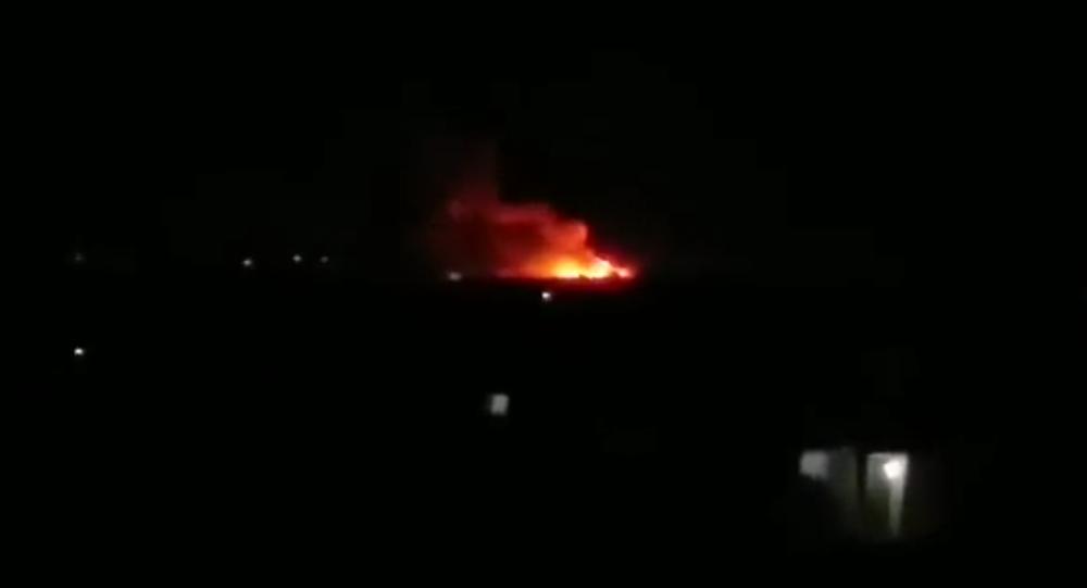 Fire in Aleppo