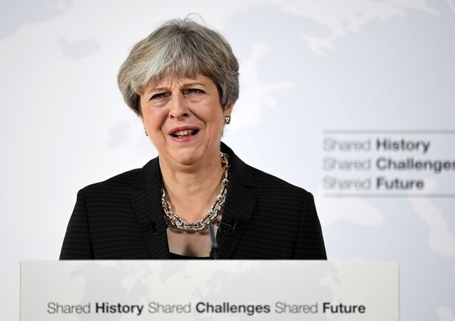 Britain's Prime Minister Theresa May speaks at the Complesso Santa Maria Novella, Florence, Italy September 22, 2017.
