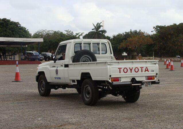 Ghana Police Toyota Land Cruiser J70 pickup