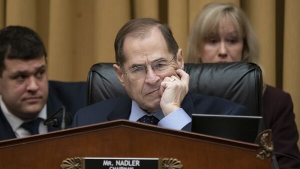 Judiciary Committee Chairman Jerrold Nadler, D-N.Y., questions Acting Attorney General Matthew Whitaker on Capitol Hill in Washington, Friday, Feb. 8, 2019. - Sputnik International