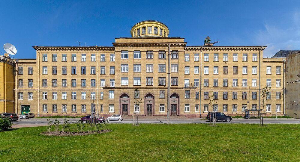 Mozhaisky Military Space Academy at Zhdanovskaya Street in Saint Petersburg