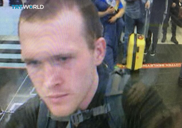 This image taken from CCTV video obtained by the state-run Turkish broadcaster TRT World and released March 16, 2019, shows Brenton Tarrant, the man suspected in the New Zealand mosque attacks, as he arrives in March 2016 at Istanbul's Ataturk International airport in Turkey