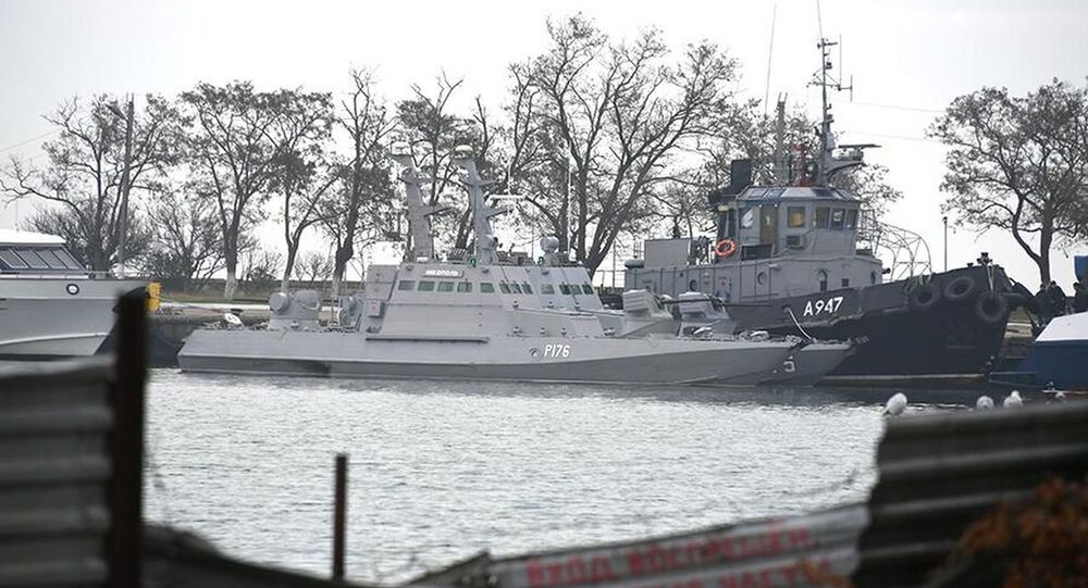 Detained ships in the port of Kerch