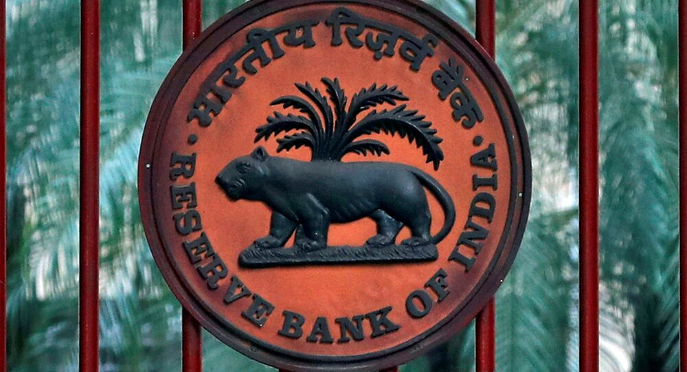 A Reserve Bank of India (RBI) logo is seen at the gate of its office in New Delhi, India, November 9, 2018