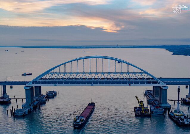 The fairway section of Krymsky Bridge was secured against collision with vessels
